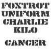 Foxtrot Uniform Charlie Kilo Cancer